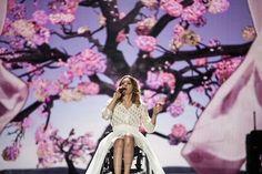 Poland: Monika Kuszynska in the cherry blossoms at first rehearsal