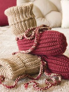 Miscellaneous Crochet - Easy Crochet Patterns - Free Crochet Pattern -- Slipper Socs Pattern for big boy sock/footies