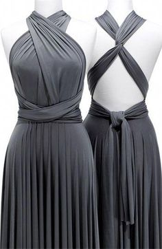 yikes expensivo - but you can get cute, cheap convertible dress one etsy. Mob Dresses, Fashion Dresses, Formal Dresses, Grey Dresses, Evening Dresses, Infinity Dress Styles, Infinity Gown, Multi Way Dress, Wedding Bridesmaid Dresses