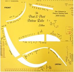 General Pattern Ruler. This template is from NZ, and it says you can draft any item of clothing in a large range of sizes. It is $98 US