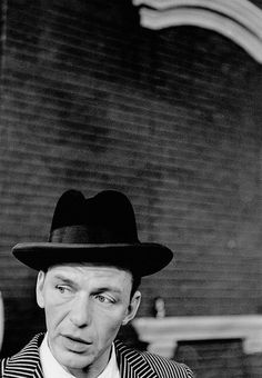 Frank Sinatra on the set of Guys and Dolls (1955), photographed by Dennis Stock