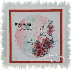 "Astrid: Gelli Plate 4"" - Distress, Maske + Blumenmotiv"