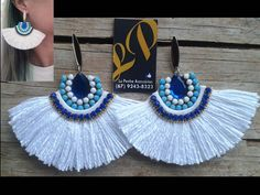 17 Outstanding Styles To Wear Beaded Tassel Earrings Tassel Earing, Beaded Tassel Earrings, Tassel Jewelry, Soutache Jewelry, Fabric Jewelry, Fringe Earrings, Diy Necklace, Beaded Earrings, Bridal Jewelry
