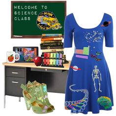 the full set Book Characters Dress Up, Character Dress Up, Teacher Halloween Costumes, Halloween Ideas, Mrs Frizzle, Teacher Wardrobe, Magic School Bus, Teaching Outfits, Festival Costumes