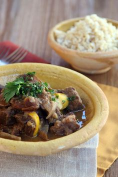 Moroccan Stew: imagine complex, fragrant tones of cinnamon and cardamom, complemented by a clear sharp note of lemon. The beef heart is in perfect disguise!