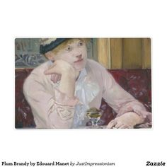Plum Brandy by Edouard Manet Laminated Placemat