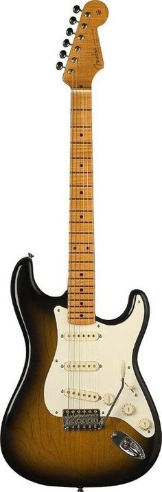 Fender Eric Johnson Maple Stratocaster Electric Guitar The Eric Johnson signature Stratocaster guitar features a light two-piece alder body with deep '57-style body contours and cavities; one-piece, v