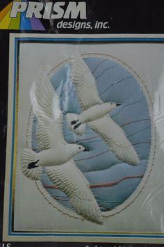 "#Prism #Designs #""Sea Gulls"" #PRS23 #Sculptured #Stitchery #PrismDesginsInc#Beach#Birds"