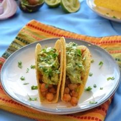 Chickpea Tacos - the perfect meat-free taco, using the same spice mix as beef or chicken tacos