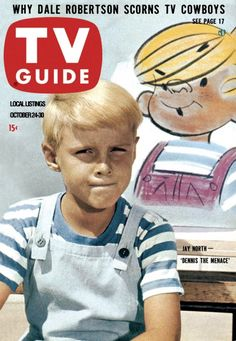 "TV Guide, October 24, 1959 - Jay North of ""Dennis The Menace"""