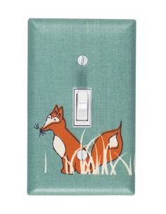 Rosenberry Rooms has everything imaginable for your child's room! Share the news and get $20 Off  your purchase! (*Minimum purchase required.) Sly Fox Light Switch Plate Cover #rosenberryrooms