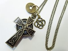 40% OFF - Celtic Cross Watch Necklace - Outlander style, fashion meets function!