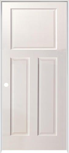 Mastercraft 32 x 80 primed flat 3 panel hollow int door slab at menards 38 doors for Mastercraft prehung interior doors