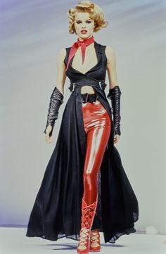 Mugler Spring 1992 Ready-to-Wear Fashion Show - Eva Herzigova