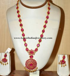 Latest Collection of Indian Gold and Diamond Jewellery from Traditional to Contemporary Designs. Ruby Jewelry, Jewelry Model, Bead Jewellery, Gemstone Jewelry, Beaded Jewelry, Diamond Jewellery, Bridal Necklace, Wedding Jewelry, Gold Necklace