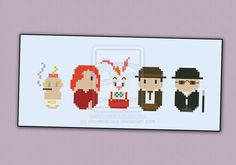 Mini People - Roger Rabbit cross stitch pattern by cloudsfactory Pop Culture Cross Sticth