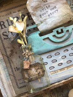 Write Your Own Story-Featuring the Tim Holtz Sizzix Retro Type Bigz Altered Books, Altered Art, Retro Typewriter, Paper Art, Paper Crafts, Crackle Painting, Write Your Own Story, Nest Design, Halloween Books