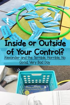 When students understand their circle of control, when they know if something is inside or outside of their control, they become better problem solvers and copers! Elementary Counseling, Counseling Activities, School Counselor, Therapy Activities, Group Counseling, Therapy Games, Play Therapy, Therapy Ideas, Coping Skills