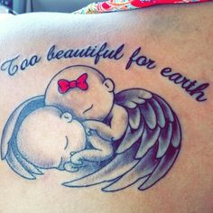 Twins Miscarriage Tattoo in Honor Of My Two Angels Jayden & Catalina Custom Made By Meme At Black Lotus