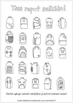 Värityskuvat - Värinautit School Days, Back To School, School Themes, Autumn Art, Escape Room, Worksheets, Coloring Pages, Kindergarten, Crafts For Kids