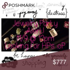 Hosting Jewelry Party!!!🎉 Ok Ladies tag me on some amazing closets who follow posh rules, looking for jewelry Host picks!!! I'll be looking out for shares. brillante Jewelry