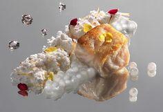 Prato para Iemanjá no antigo e memorável menu dos orixás:  robalo com pérolas de leite de coco e capim-santo mais areia de coco  servido num...