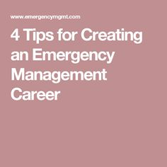 Ways for new and emergent emergency management professionals to establish themselves in this dynamic and diverse profession. Emergency Response Plan, Emergency Management, Emergency Preparedness, Survival, Job Search, Higher Education, Career, How To Plan, Create