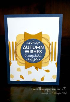 features Stampin Up's Among the Branches stamp set from the 2015 Hoilday catalog; Autumn Wishes - www.thinkpinkink.net