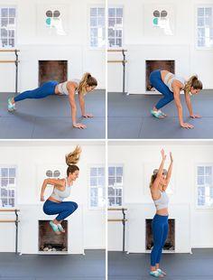Los mejores movimientos para la temporada de traje de baño!  Cirugía estética de saltar burpee ...