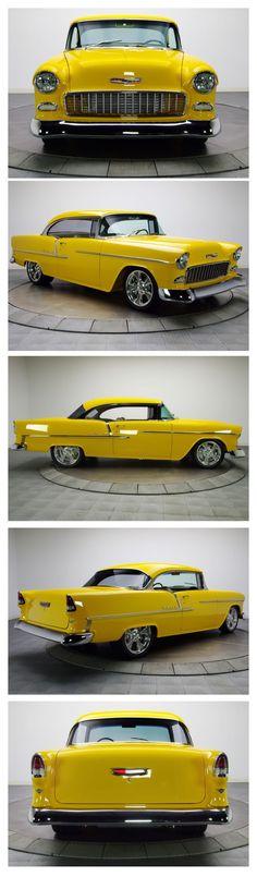 Visit The MACHINE Shop Café... ❤ Best of Chevy @ MACHINE ❤ (1955 Chevrolet Bel Air Coupé)