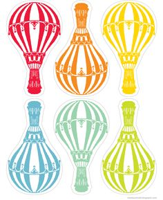 free hot air balloon printables - created