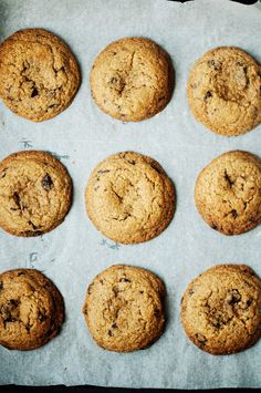 Wholewheat chocolate chip cookies - extremely soft probably healthier than your regular chocolate chip ones!