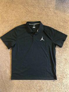 b346de1fe91402 Nike Jordan Team Polo T-Shirt 865856-106 Color Black Men s Size XL NEW