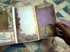 Chateau Lavender Vertical Paper Bag Mini Album - YouTube