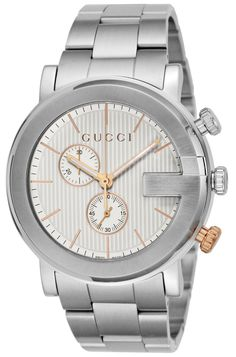 2238a230f15 Gucci G Chronograph Silver Dial Mens Watch YA101360 – Watch Time Luxury  Mens Designer Watches