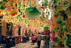 The Festa Major de Gràcia in August is the most important in Barcelona after La Mercè. The competition for the Best Decorated Street is always hard fought and big stages are set up in the major squares offering some of the best bands around.