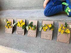 Forest School Activities, Nature Activities, Spring Activities, Theme Nature, Deco Nature, Toddler Crafts, Toddler Activities, Activities For Kids, Preschool Crafts