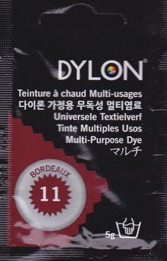 Teinture multi-usages Dylon BORDEAUX N°11 (=capsule)