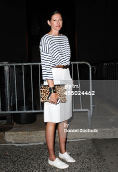 Jenna Lyons is seen outside the Rag and Bone show...
