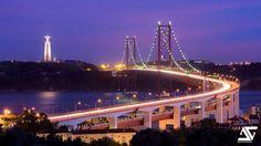 Pont du 25 avril et Cristo Rei, Lisbonne, Portugal