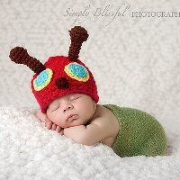 Little Caterpillar Crocheted Infant Hat