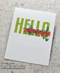 Fun, Hello Friend, Handmade Card by: Three In the Nest Creations