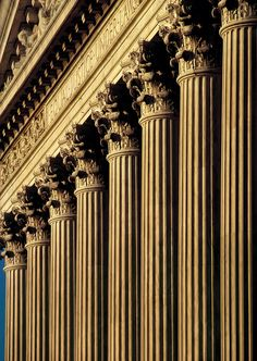 Early morning telephoto view of the columns and front facade of the U. Supreme Court Building in Washington, D. --often used to illustrate the countrys law / judicial system. Supreme Court Building, Column Capital, Architectural Columns, Building Facade, Acanthus, Morning Light, Stone Carving, Terms Of Service, Early Morning