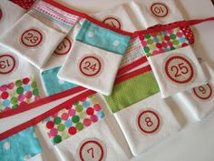 mousehouse: Christmas advent bunting