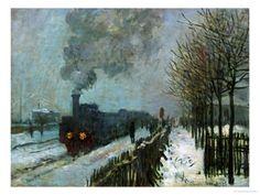 Train in the Snow, 1875 reproduction proc�d� gicl�e par Claude Monet sur AllPosters.fr