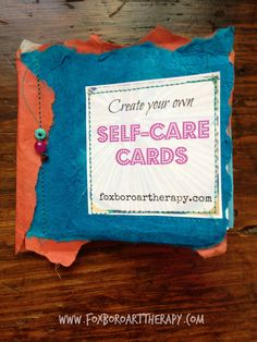 Anxiety self-care cards free printable