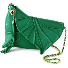 LeafDrop green (€290) ❤ liked on Polyvore featuring bags, handbags, purses, green, zip lock bags, long handle purses, genuine leather purse, long handle handbags and kiss-lock handbags