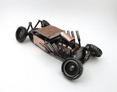 Hot Rod Sculpture by Brown Dog Welding, via Flickr