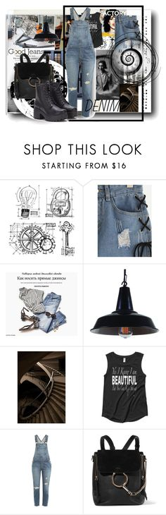 """Industrial Girl"" by kelly-floramoon-legg ❤ liked on Polyvore featuring Tim Holtz, Andy Warhol, PAM, Current/Elliott, Chloé, distresseddenim and polyvorecontest"