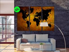Copper foil print on grey card stock by nothingbutlovelyuk on etsy giant world map poster copper black large giant world map poster copper one or three panel world map art print on canvas gumiabroncs Choice Image